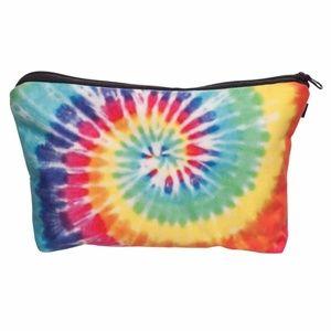 Rainbow Tie Dye Cosmetic Bag